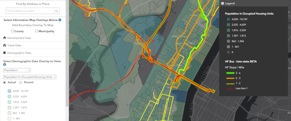 NJ Land Use + Transit Data Application